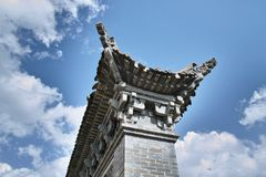 Chinese eaves. THE Chinese eaves have  many years of history Royalty Free Stock Photo