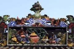 Chinese  eaves. Roof of Chinese temple, traditional chinese architecture Royalty Free Stock Photography