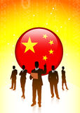 Chinese economic business team Stock Image