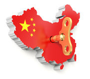 Chinese economic momentum concept Royalty Free Stock Image