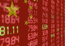 Chinese Effectenbeurs neer Stock Afbeelding