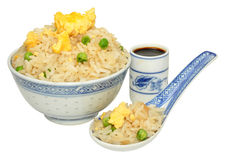 Chinese Egg Fried Rice Royalty Free Stock Images