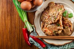 Chinese egg fu yung omelette Royalty Free Stock Images