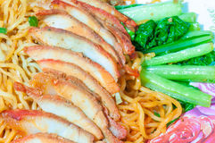 Chinese egg noodles Stock Photo
