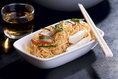 Chinese Egg Noodles. Stir-Fried Chinese Egg Noodles royalty free stock images