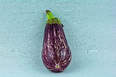 Chinese egg plant. On a blue back ground Royalty Free Stock Images