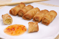 Chinese egg roll stock image