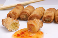 Chinese egg roll Royalty Free Stock Photography