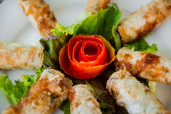 Chinese egg rolls Stock Photos