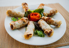 Chinese egg rolls Royalty Free Stock Image