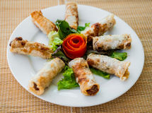 Chinese egg rolls Royalty Free Stock Photos