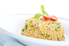 Chinese ei gebraden rijst Royalty-vrije Stock Afbeelding