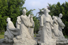 Chinese eight immortals stone carving Stock Images