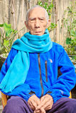 Chinese elderly people in the courtyard Stock Photos