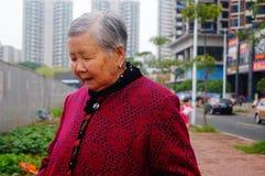 Chinese elderly women Stock Photos