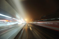 Chinese electric train cut across railway station royalty free stock photos