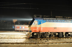Chinese electric train at night royalty free stock photo