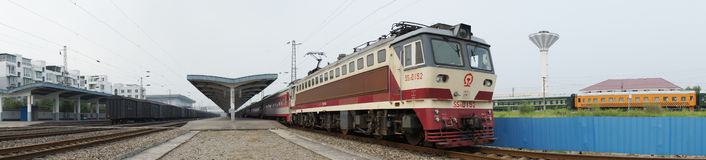 Chinese electric train panorama Royalty Free Stock Images