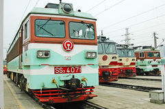 Chinese electric train staying on the station Stock Images