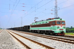 Chinese electric train under blue sky Stock Images