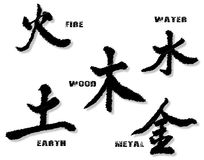 The Chinese Element Symbols Royalty Free Stock Photo