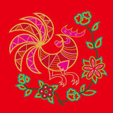 Chinese embroidery rooster pattern Royalty Free Stock Photography