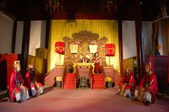 Chinese Emperor Hold Court Ceremony royalty free stock photo