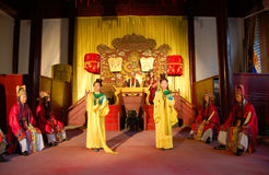 Chinese Emperor Hold Court Ceremony Royalty Free Stock Images