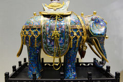 Chinese enamel handycraft of elephant Stock Photo