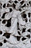 Chinese engel op de muur van de tempel. royalty-vrije stock foto's