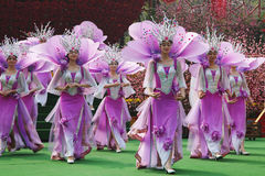 The Chinese ensemble in lilac suits Stock Photo