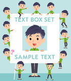 Chinese ethnic clothing man text box Royalty Free Stock Images