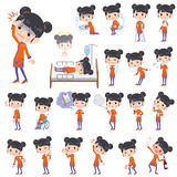 Chinese ethnic clothing woman sickness Royalty Free Stock Photos