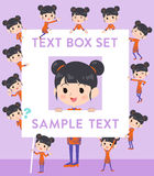 Chinese ethnic clothing woman text box Royalty Free Stock Images