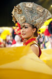Chinese ethnic dance of Yi nationality. CHENGDU - SEP 26: chinese Yi ethnic dance performed by song and dance troupe of Liangshan Yi autonomous prefecture at Stock Photography
