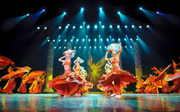 Chinese ethnic dance of Yi nationality Royalty Free Stock Photography