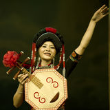 Chinese ethnic dance of Yi nationality Stock Image