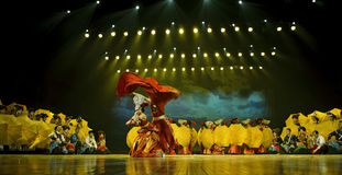 Chinese ethnic dance of Yi nationality Stock Images
