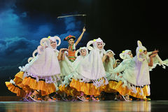 Chinese ethnic dancers Royalty Free Stock Image