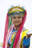 Chinese Ethnic Girl in Traditional Dress Stock Photo