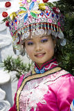 Chinese Ethnic Girl in Traditional Dress Stock Photography