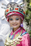 Chinese Ethnic Girl in Traditional Dress Royalty Free Stock Photos