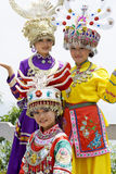 Chinese Ethnic Girls in Traditional Dress Royalty Free Stock Photos