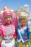 Chinese Ethnic Girls in Traditional Dress Stock Photography