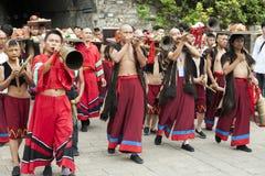 Chinese Ethnic Minority Musicians Royalty Free Stock Photos