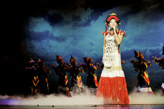 Chinese ethnic singer of Yi nationality Royalty Free Stock Images