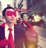 Chinese Ethnicity Business Superheroes Confident Concept Royalty Free Stock Images
