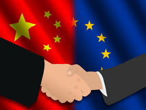 Chinese EU meeting Stock Photos