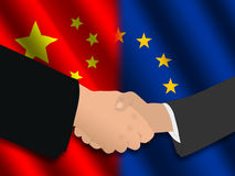 Chinese european meeting Stock Photography