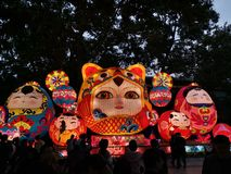 Chinese. Ew year lanterns, guangzhou yuexiu 2019 royalty free stock images